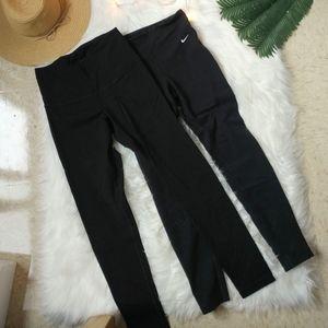 Set of 2 Black Nike Yoga Pants Size Small